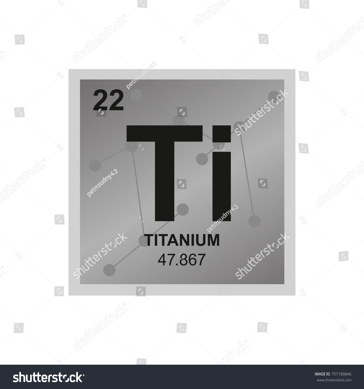 Vector symbol titanium periodic table elements stock vector vector symbol of titanium from the periodic table of the elements on the background from connected gamestrikefo Gallery