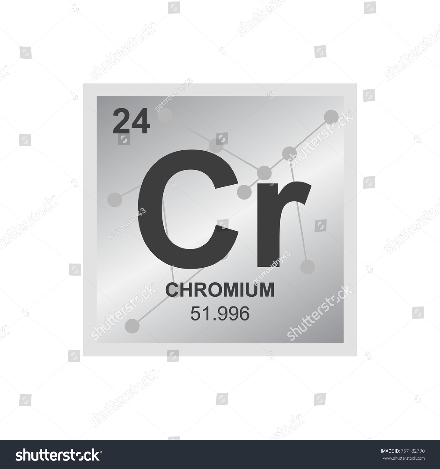 Vector symbol chrome periodic table elements stock vector vector symbol of chrome from the periodic table of the elements on the background from connected urtaz Image collections