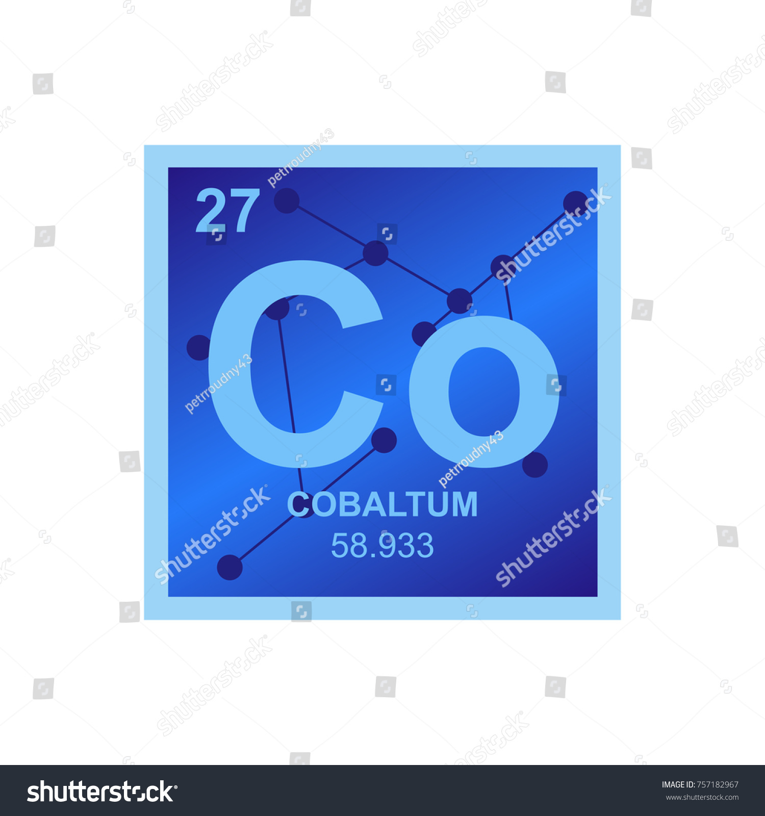 Vector symbol cobalt periodic table elements stock vector vector symbol of cobalt from the periodic table of the elements on the background from connected gamestrikefo Image collections