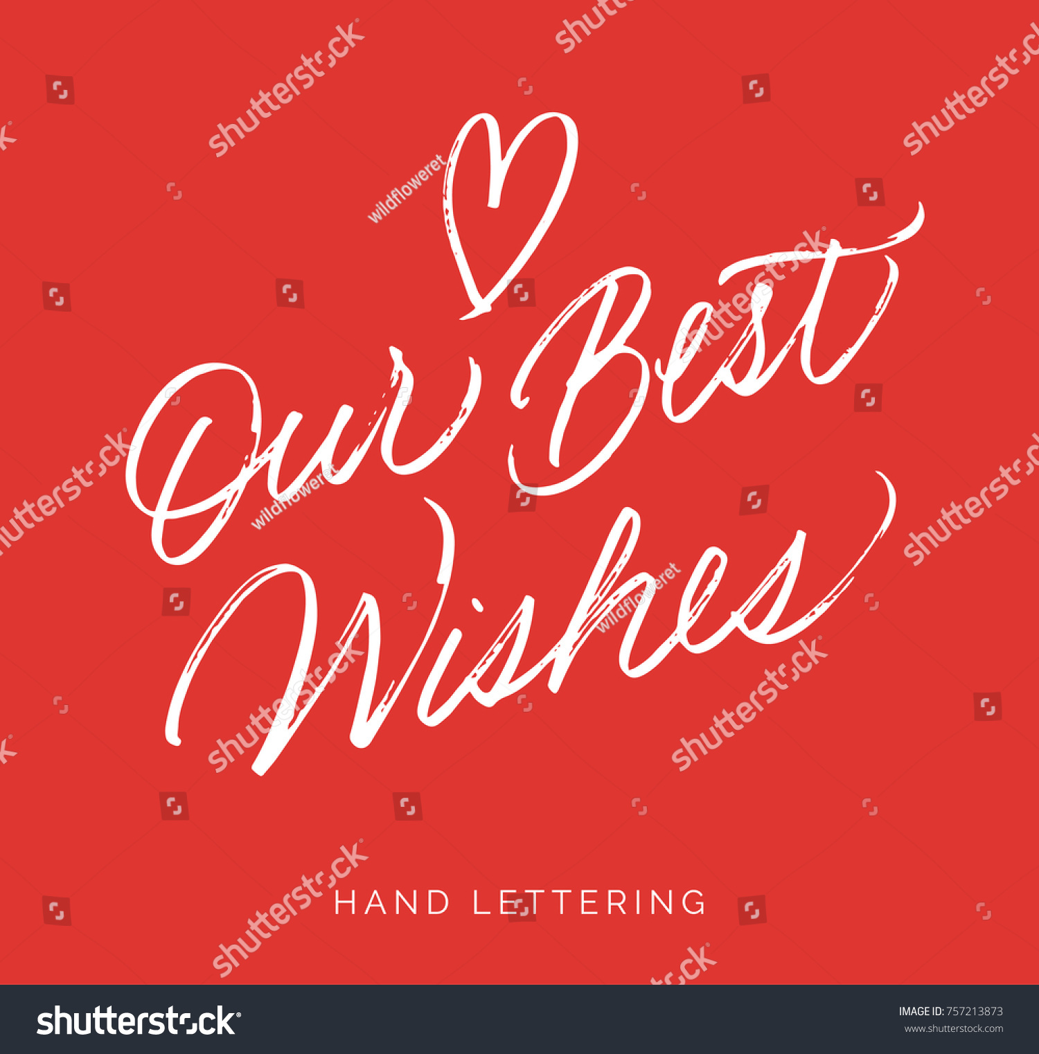 Our Best Wishes Hand Written Christmas Stock Vector Royalty Free