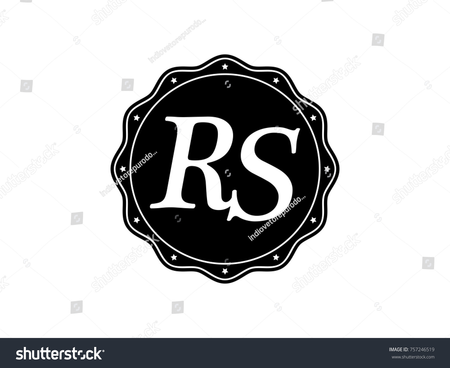 Initial letter rs monogram logo black stock vector 757246519 initial letter rs monogram logo black seal stamp lace buycottarizona Image collections