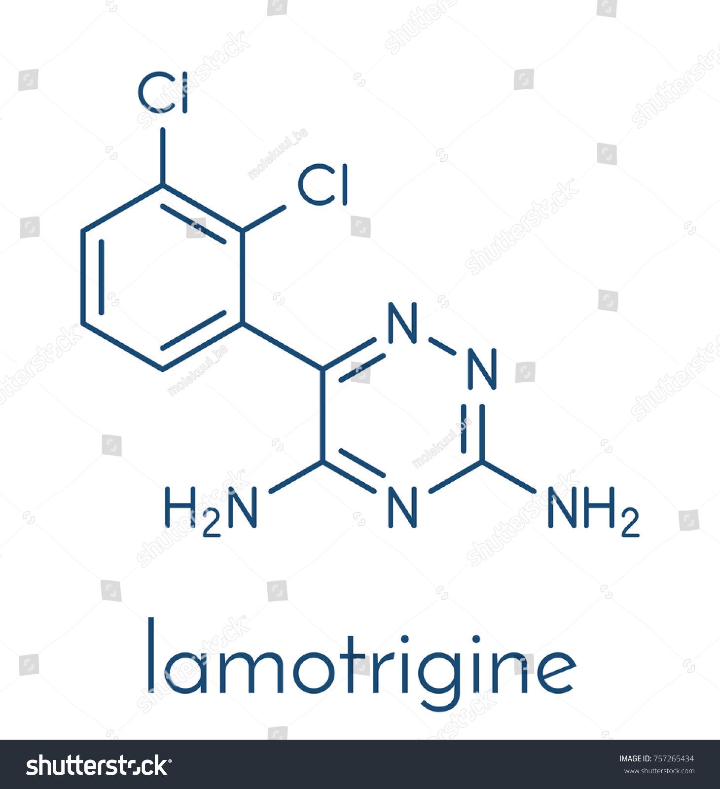 Lamotrigine seizures drug molecule used treatment stock vector lamotrigine seizures drug molecule used in treatment of epilepsy and bipolar disorder skeletal formula biocorpaavc Gallery