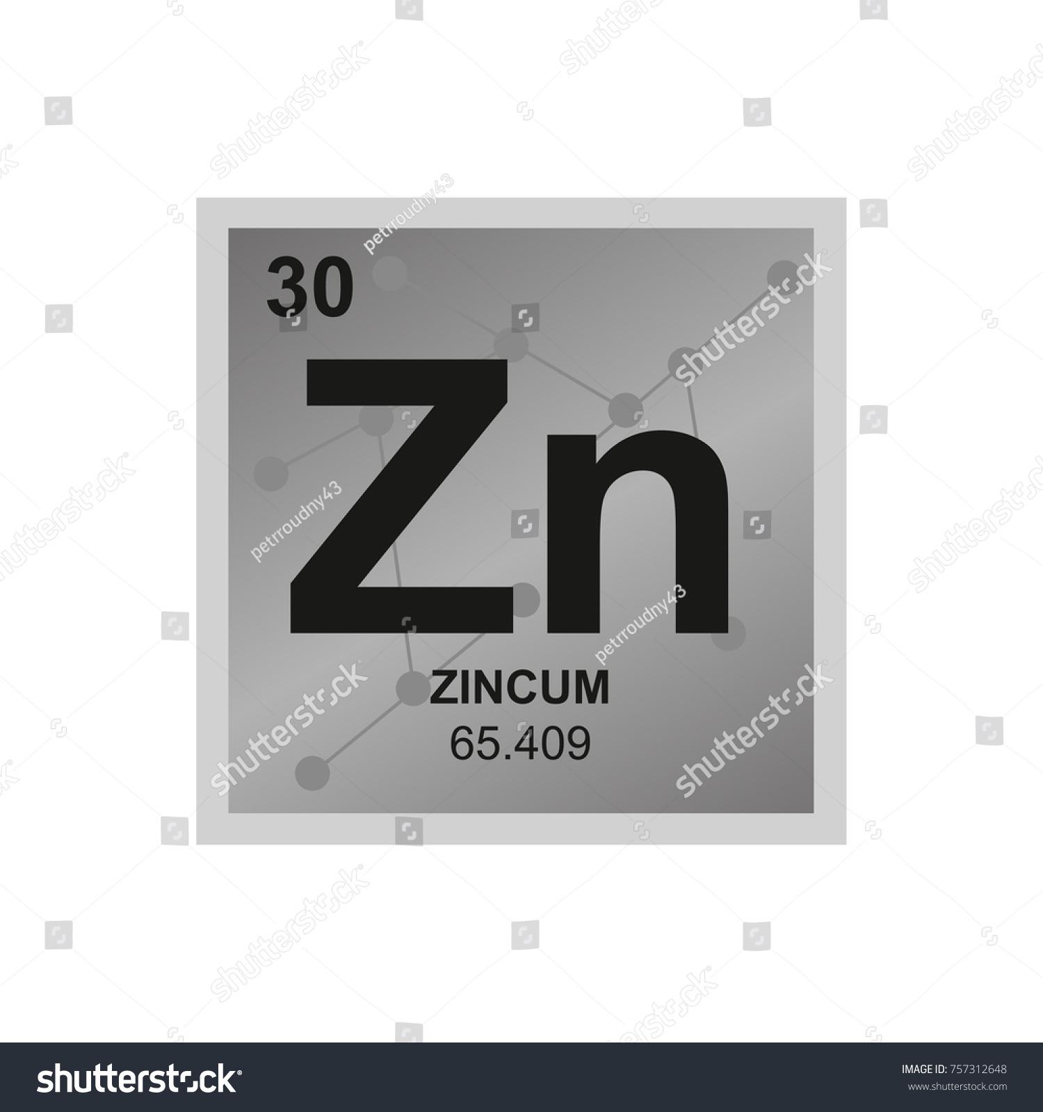 Vector symbol zinc periodic table elements stock vector 757312648 vector symbol of zinc from the periodic table of the elements on the background from connected buycottarizona Gallery