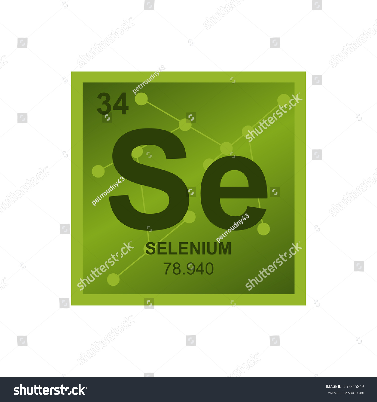 Vector symbol selenium periodic table elements stock vector vector symbol of selenium from the periodic table of the elements on the background from connected gamestrikefo Images