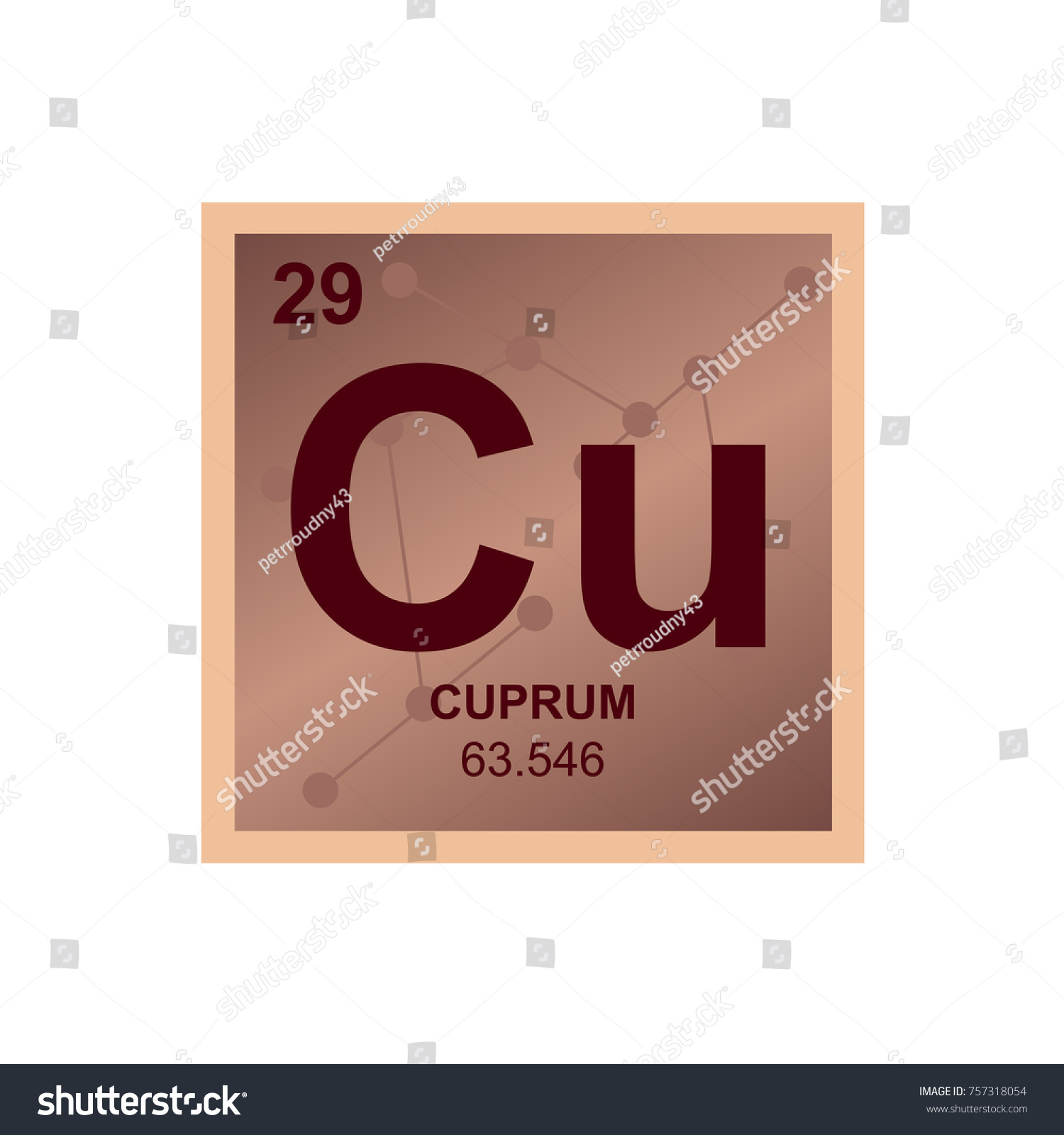Vector symbol copper periodic table elements stock vector vector symbol of copper from the periodic table of the elements on the background from connected buycottarizona