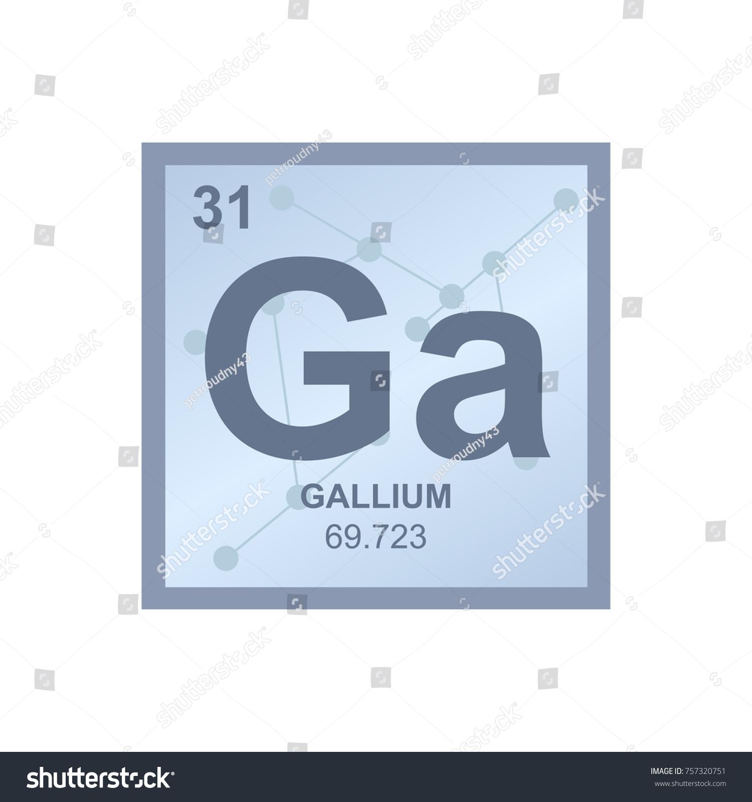 Vector symbol gallium periodic table elements stock vector vector symbol of gallium from the periodic table of the elements on the background from connected gamestrikefo Gallery