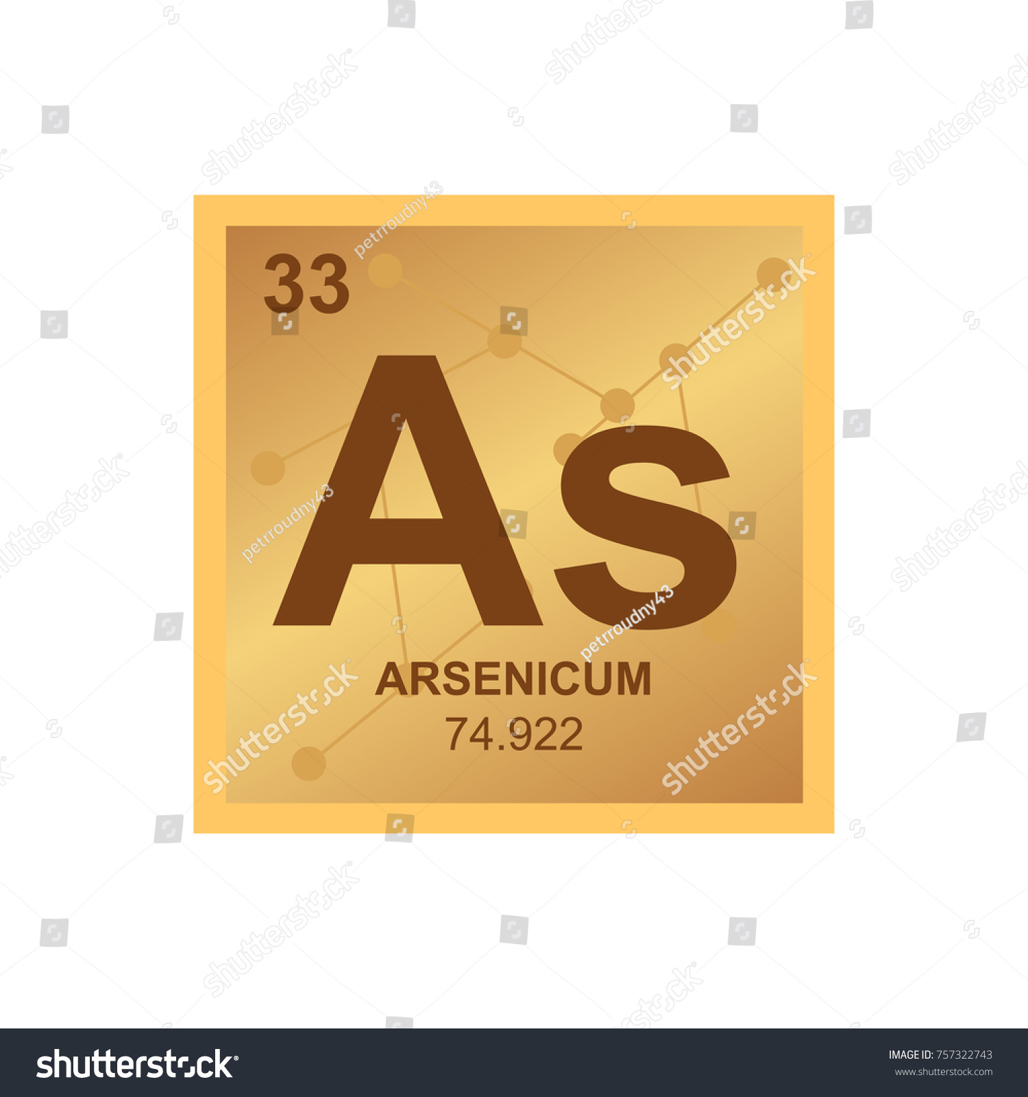 Vector symbol arsenic periodic table elements stock vector vector symbol of arsenic from the periodic table of the elements on the background from connected biocorpaavc Image collections