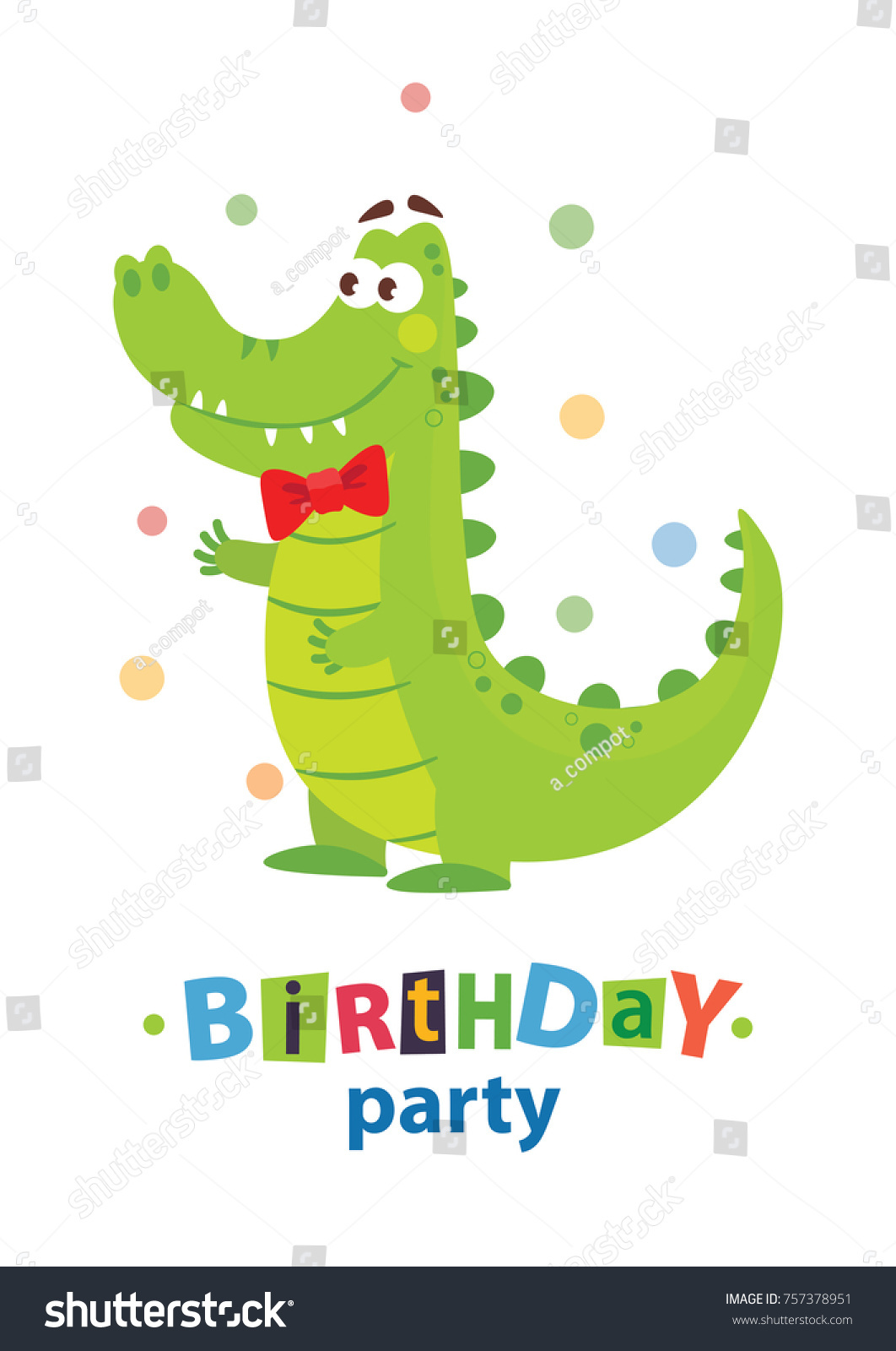 Kids birthday invitation card cute cartoon stock vector 757378951 kids birthday invitation card cute cartoon stock vector 757378951 shutterstock stopboris Images