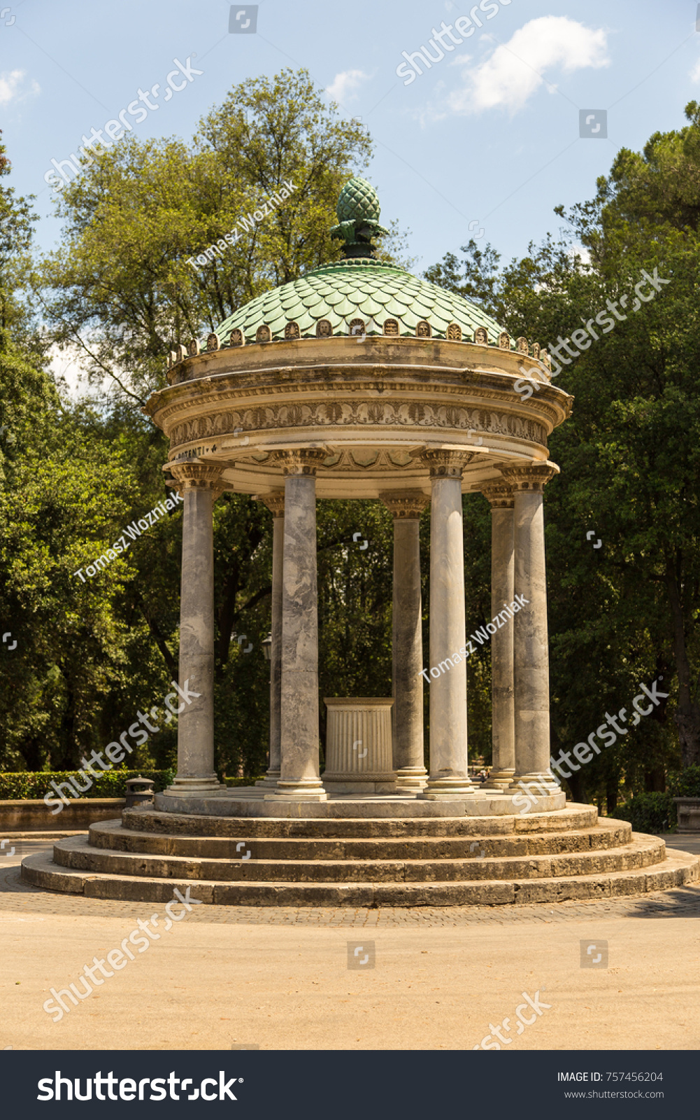 Arbor Villa Borghese Gardens Villa Borghese Stock Photo (Edit Now ...