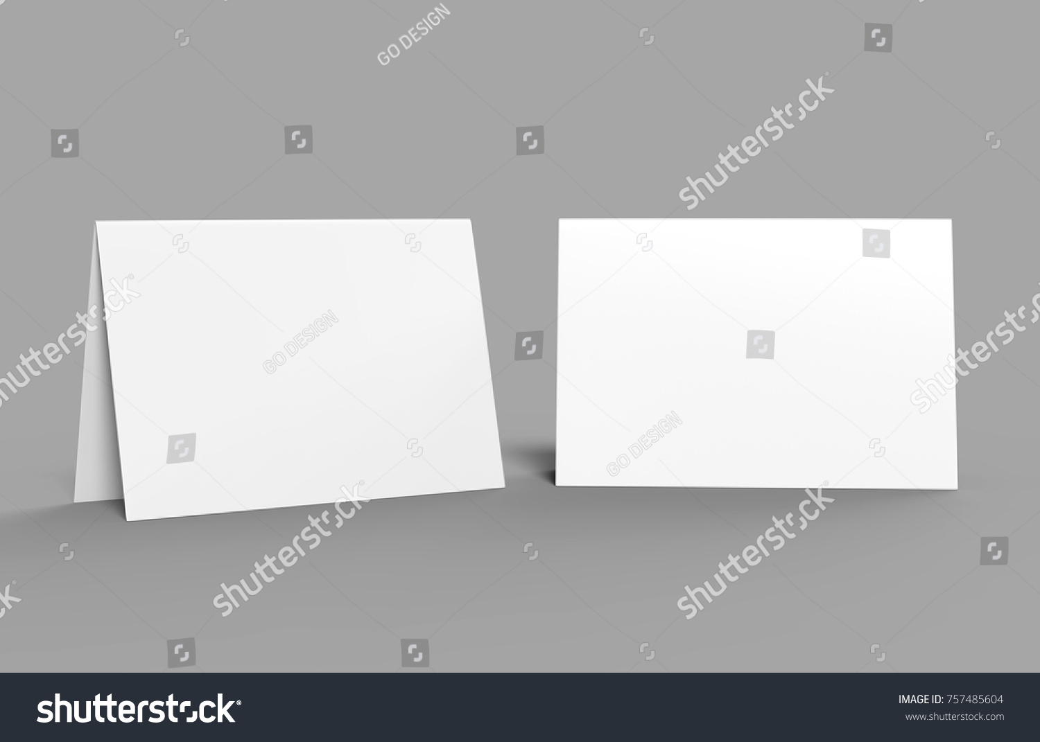 Halffold Horizontal Brochure Blank White Template Stock Illustration - Brochure blank template