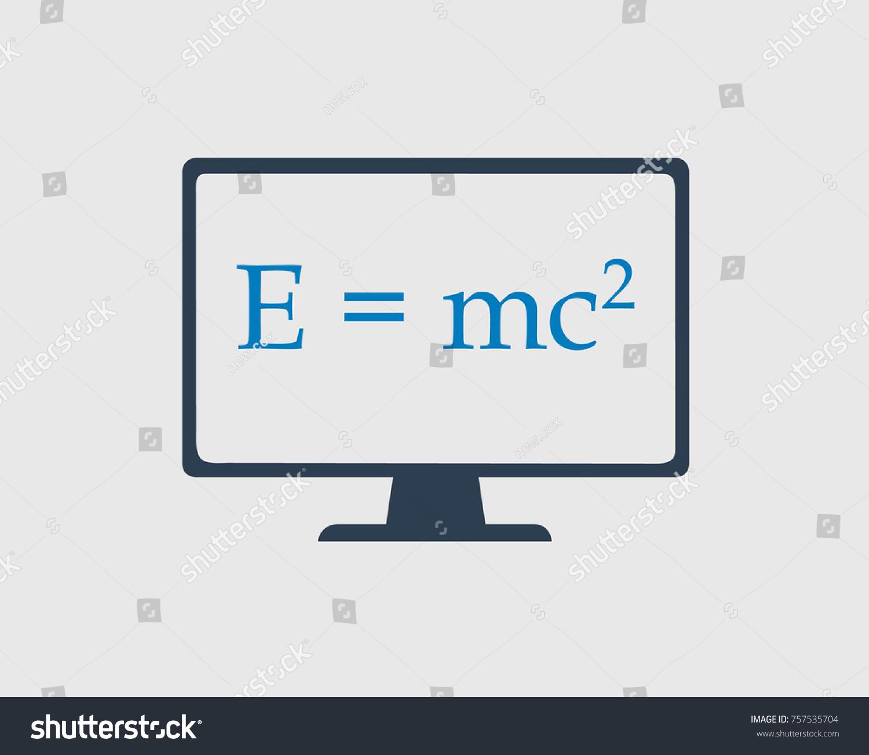 Physics Icon Emc Square Equation On Stock Vector 757535704