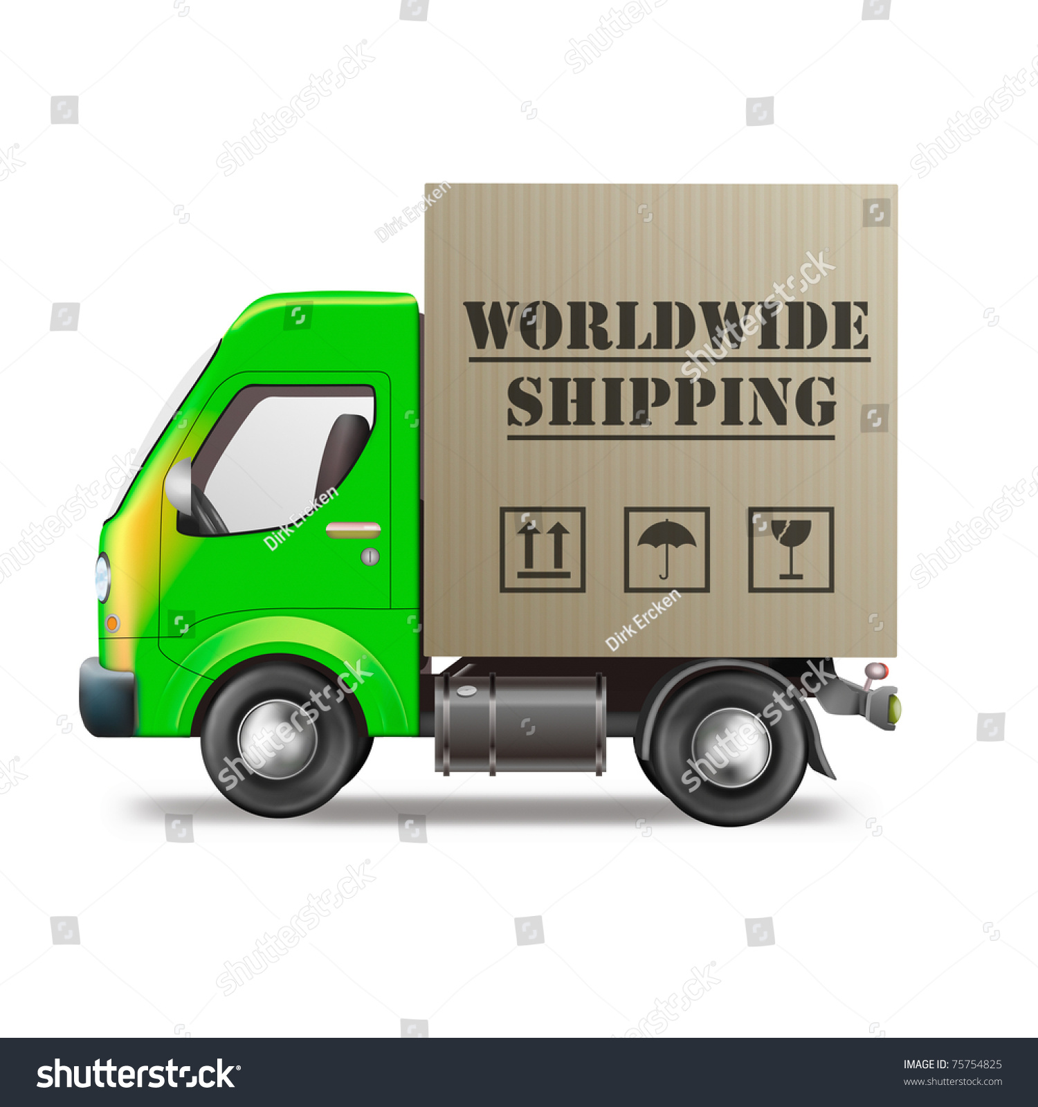 Worldwide Shipping Online Internet Order Web Stock Illustration ...
