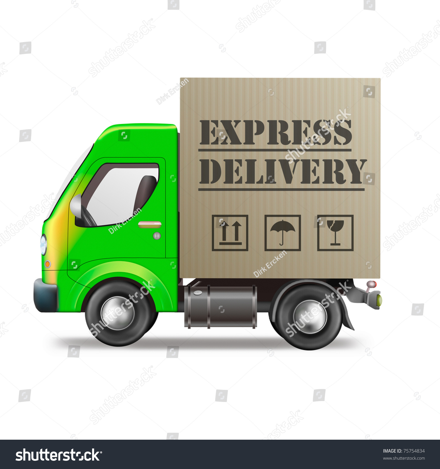 express delivery truck fast quick and urgent package shipping from order in online web shop. Black Bedroom Furniture Sets. Home Design Ideas
