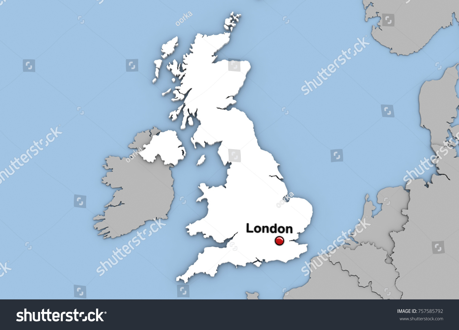 Abstract 3d render map united kingdom stock illustration 757585792 abstract 3d render of map of united kingdom highlighted in white color and location of the gumiabroncs Choice Image