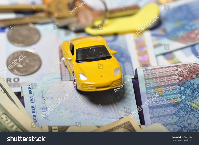 Money Coins Car Keys Apartment Debt Stock Photo Edit Now 757594480