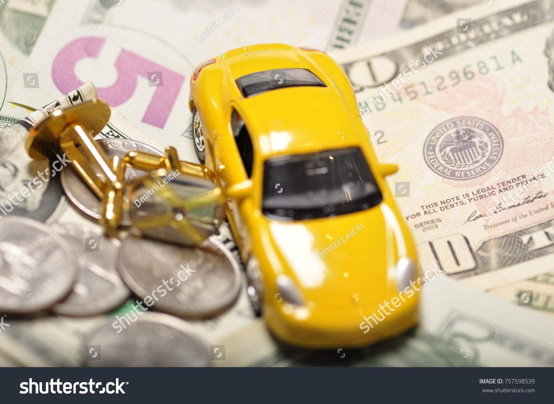 Money Coins Car Keys Apartment Debt Stock Photo Edit Now 757598539