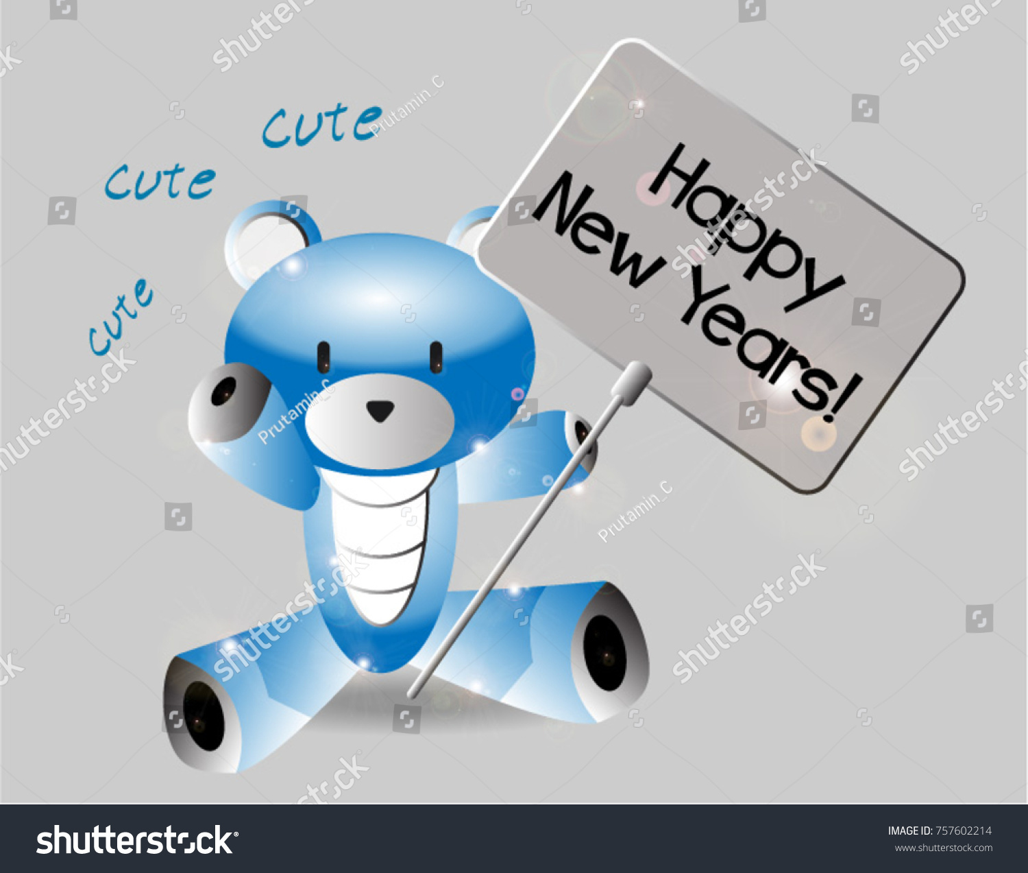 Happy New Years Beautiful Greeting Card Stock Vector (Royalty Free ...