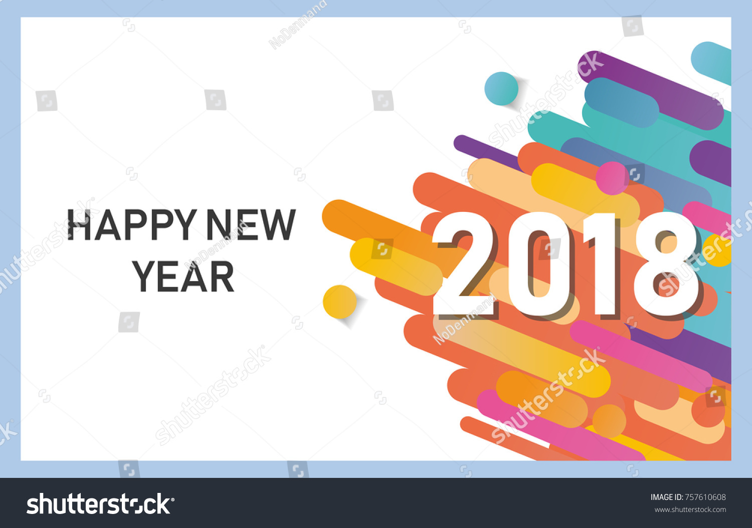 Happy New Year 2018 Vector Background Stock Vector 757610608 ...
