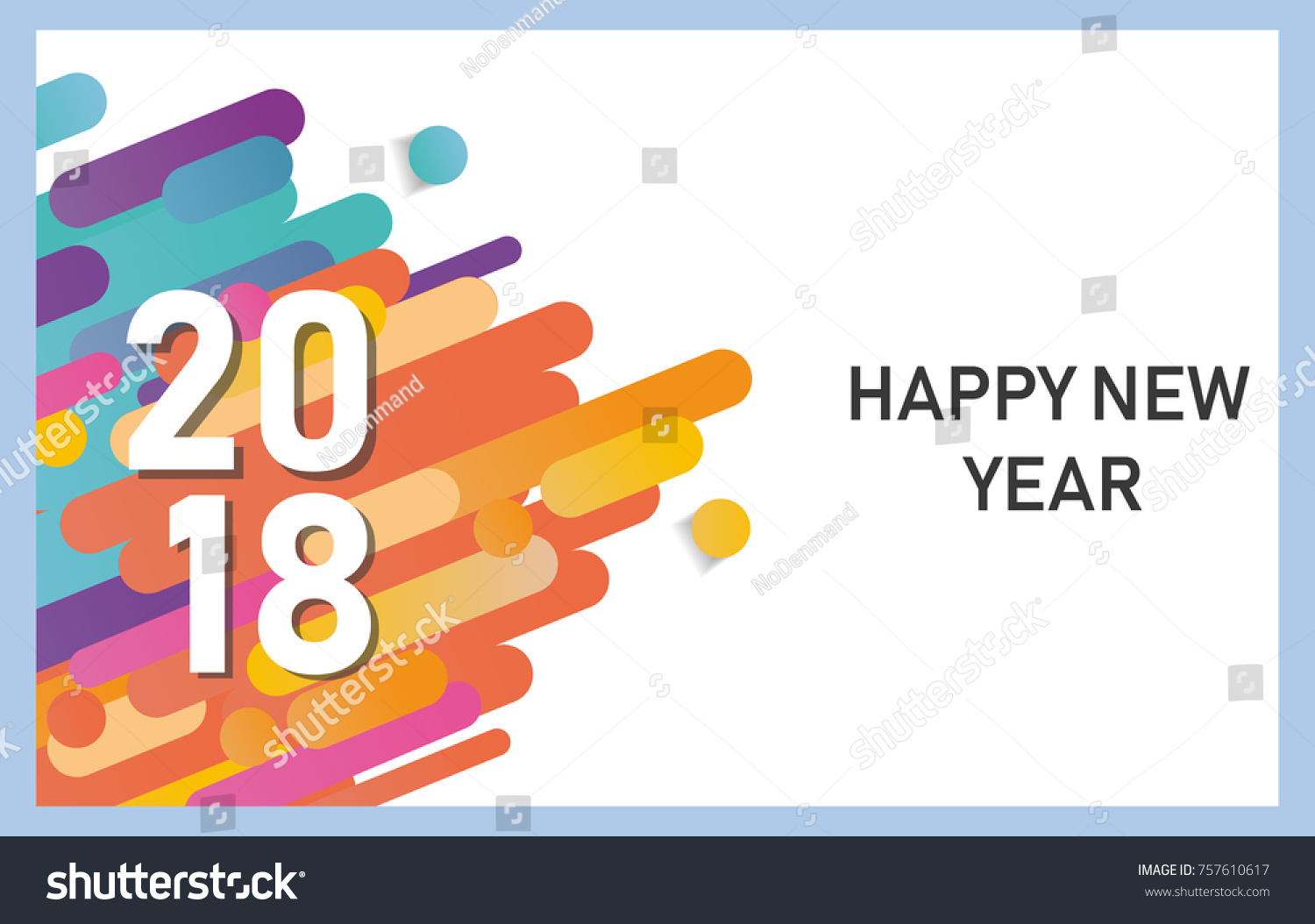 Happy New Year 2018 Vector Background Stock Vector 757610617 ...