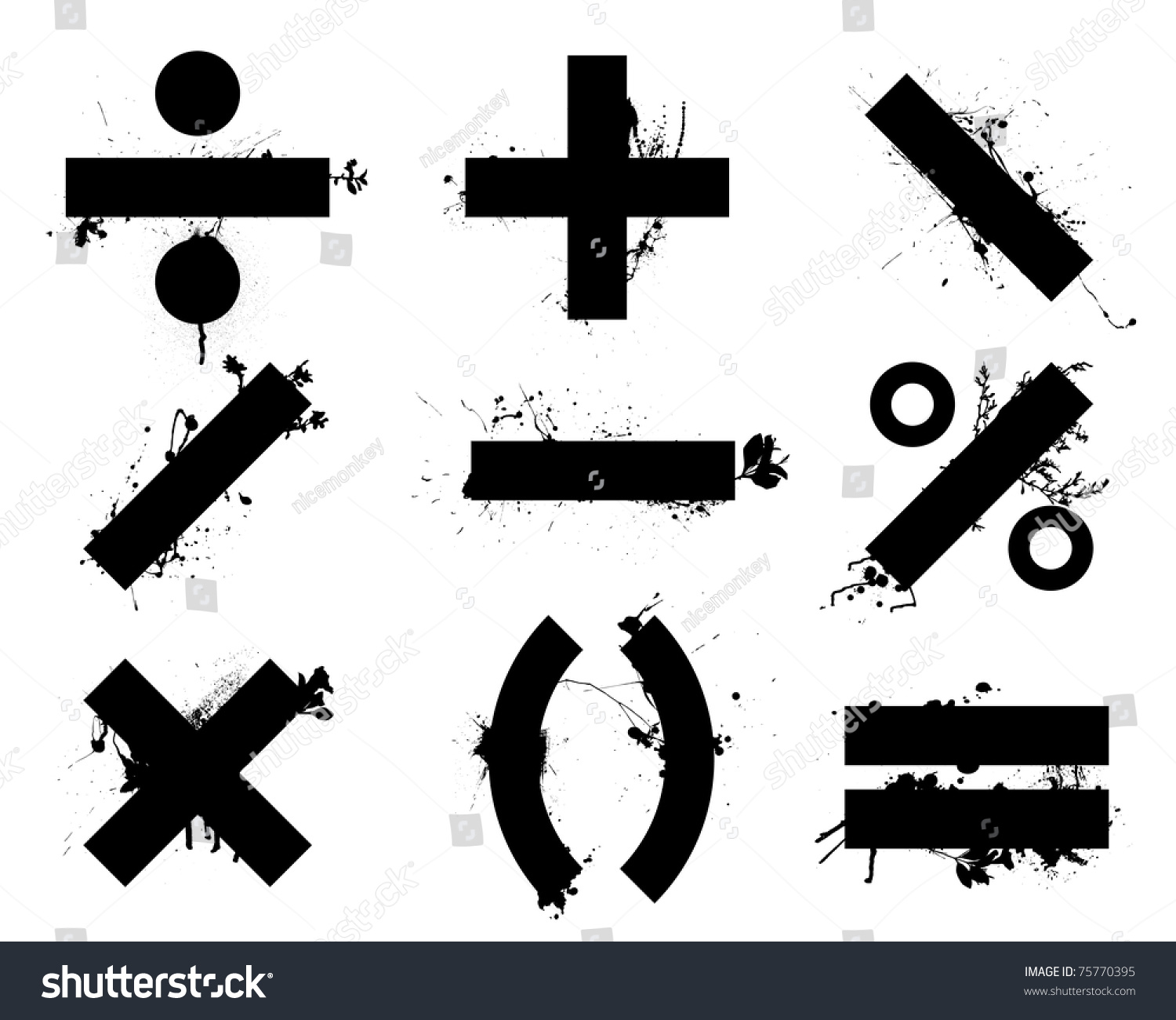 X maths symbol choice image symbols and meanings grunge black school math symbols icons stock illustration 75770395 grunge black school math symbols or icons biocorpaavc Image collections