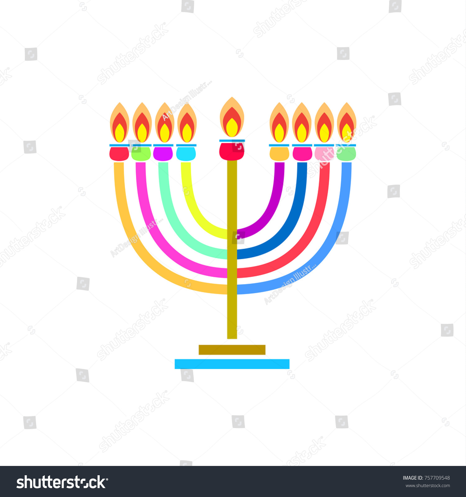 Jewish Menorah Lighting