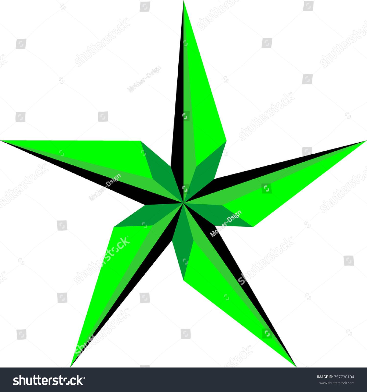green star design illustration stock vector 757730104 shutterstock rh shutterstock com Yellow Star Clip Art Orange Star Clip Art