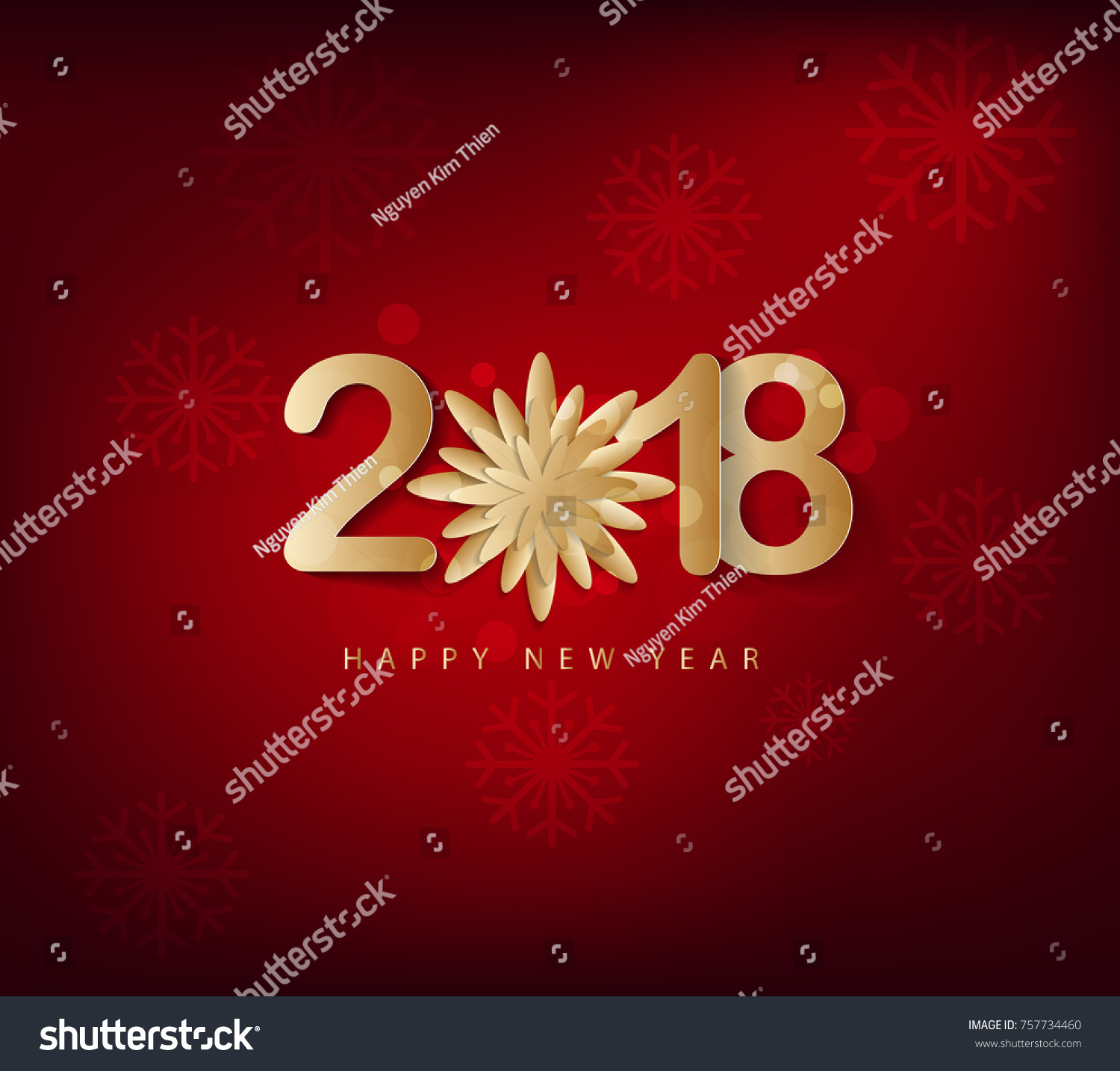 Happy new year 2018 greeting card stock vector 757734460 shutterstock happy new year 2018 greeting card and merry christmas chinese new year of the dog kristyandbryce Images