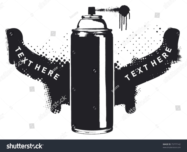 Stencil Spray Shield Two Banner Stock Vector 75777142 - Shutterstock