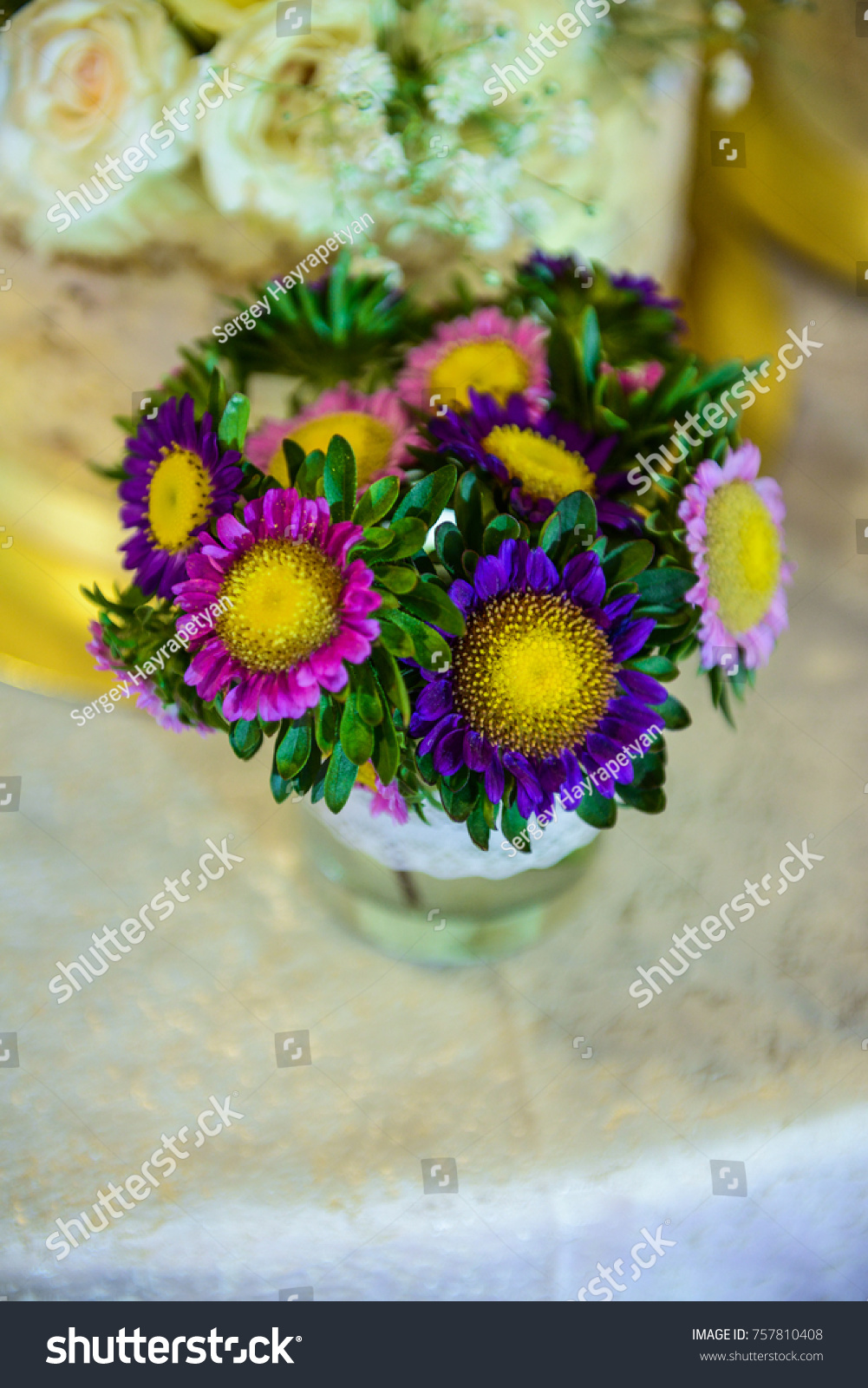 Florist making bouquet flowers bouquet wedding stock photo royalty florist making bouquet flowers for bouquet wedding bouquet of flowers bouquet of wildflowers izmirmasajfo