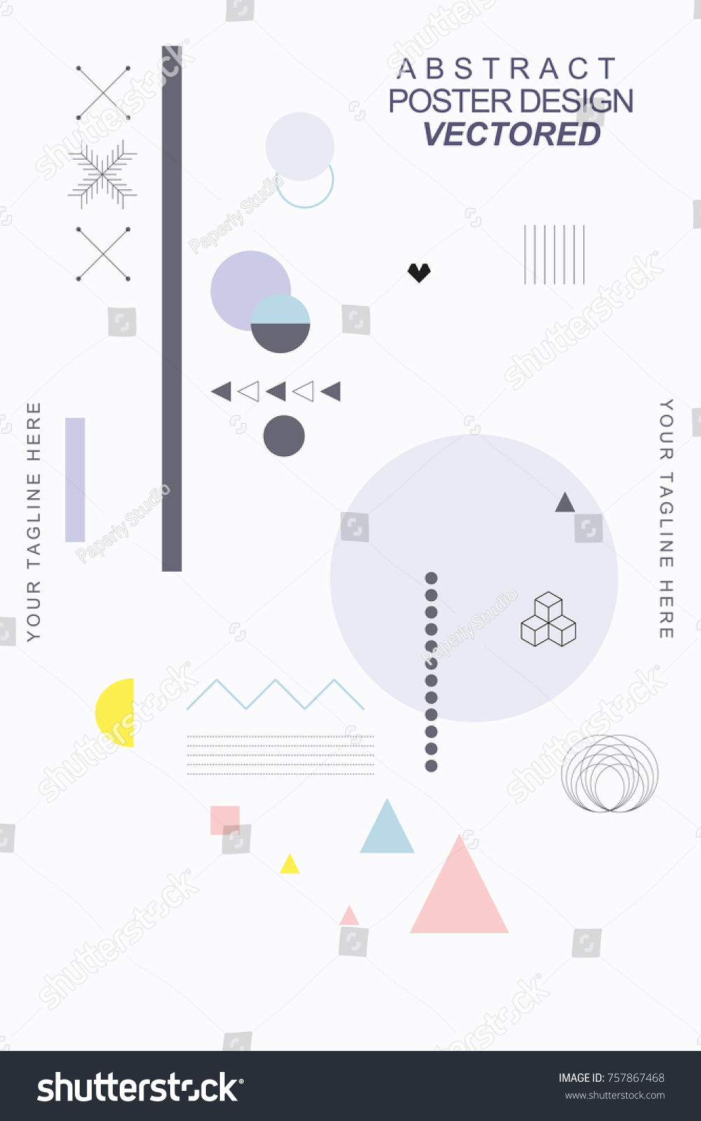 Vector Abstract Covers Templates Graphic Poster Stock Vector