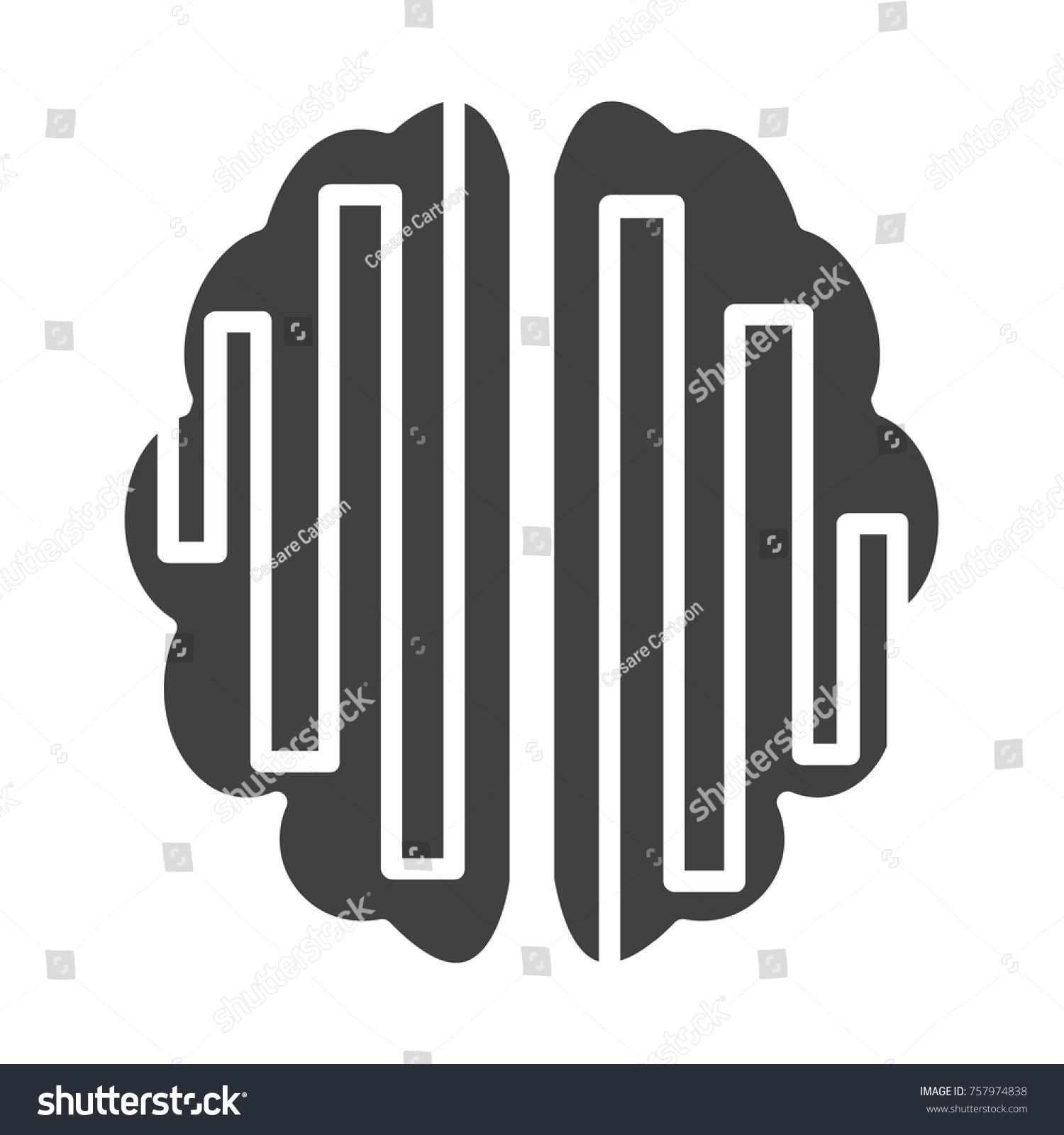 Flat brain symbol icon stock vector 757974838 shutterstock flat brain symbol icon biocorpaavc Images