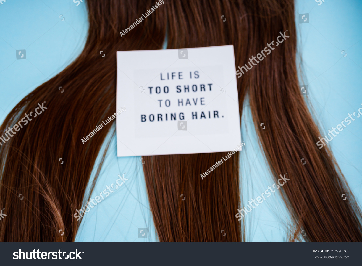 Hairdresser Accessories Coloring Hair Stock Photo 757991263 ...