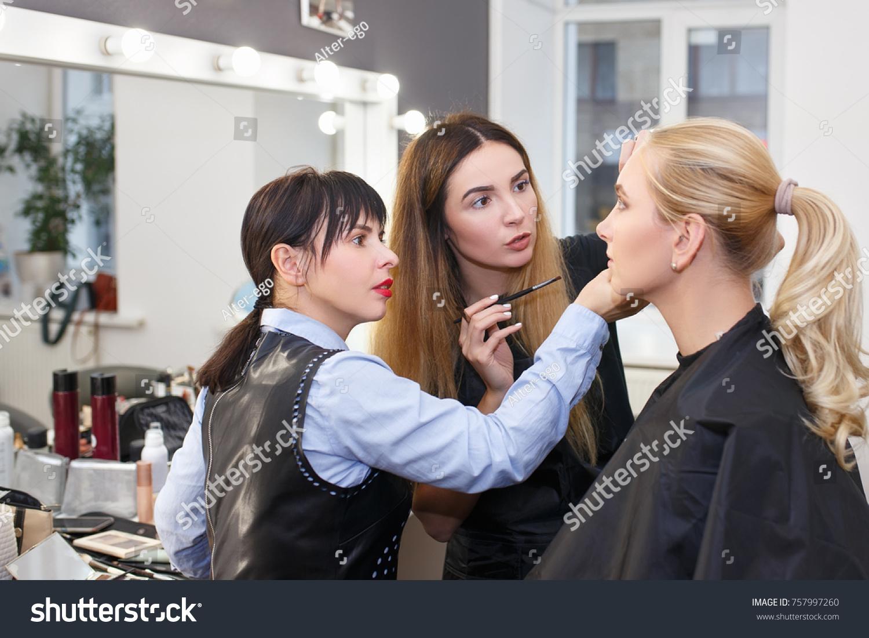 Makeup teacher her student girl makeup stock photo 757997260 makeup teacher her student girl makeup stock photo 757997260 shutterstock baditri Image collections