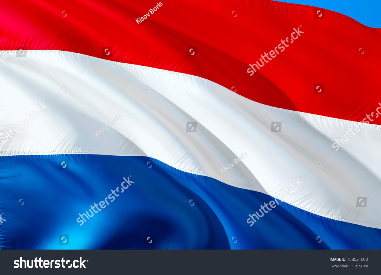 Netherlands Flag Flag Netherlands 3 D Waving Stock Illustration