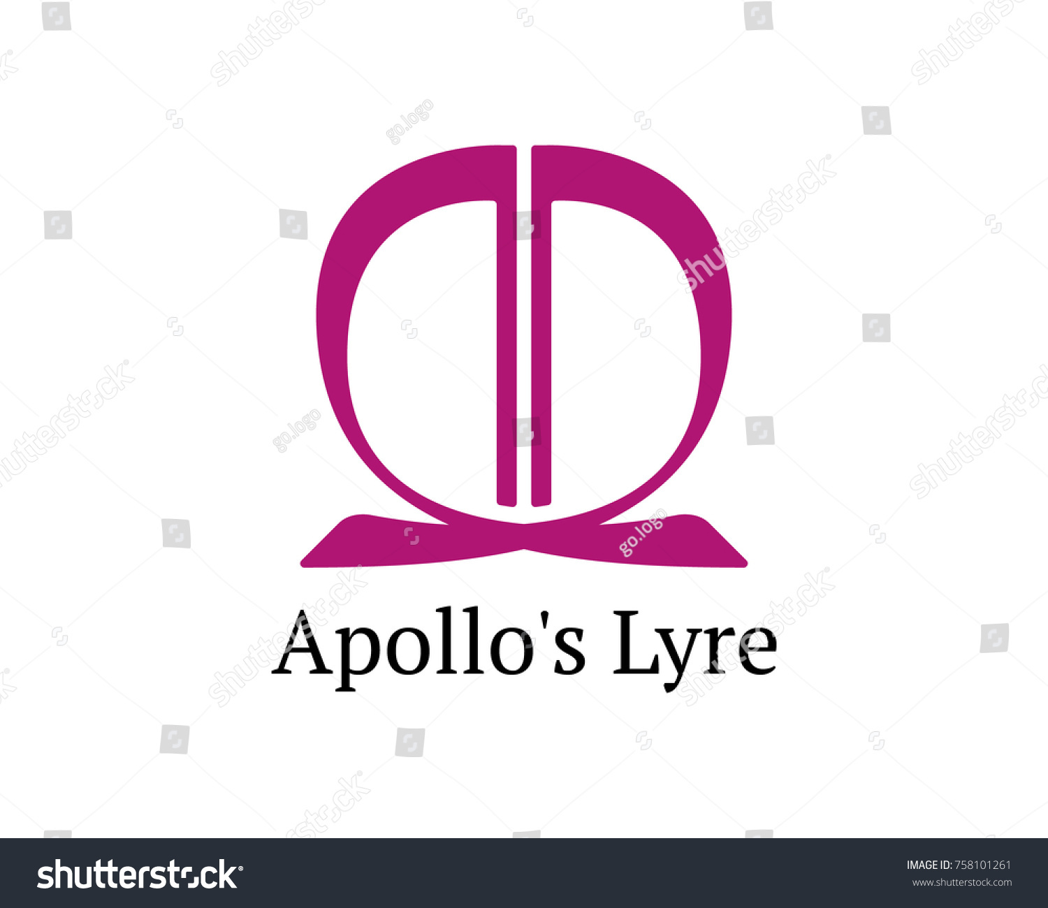 Letters ad apollos lyre logo stock vector 758101261 shutterstock letters ad and apollos lyre logo buycottarizona