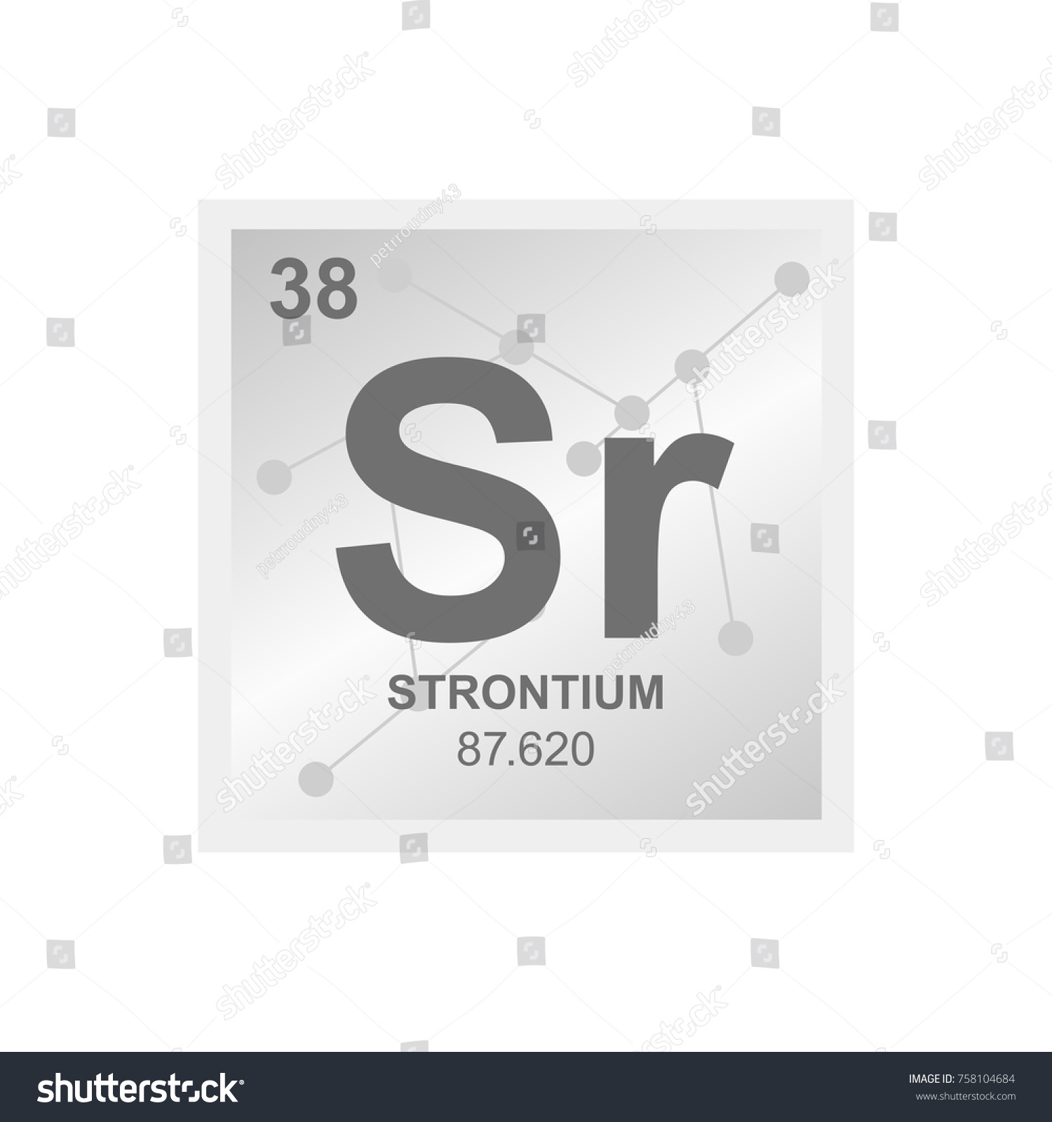 Vector symbol strontium periodic table elements stock vector vector symbol of strontium from the periodic table of the elements on the background from connected biocorpaavc