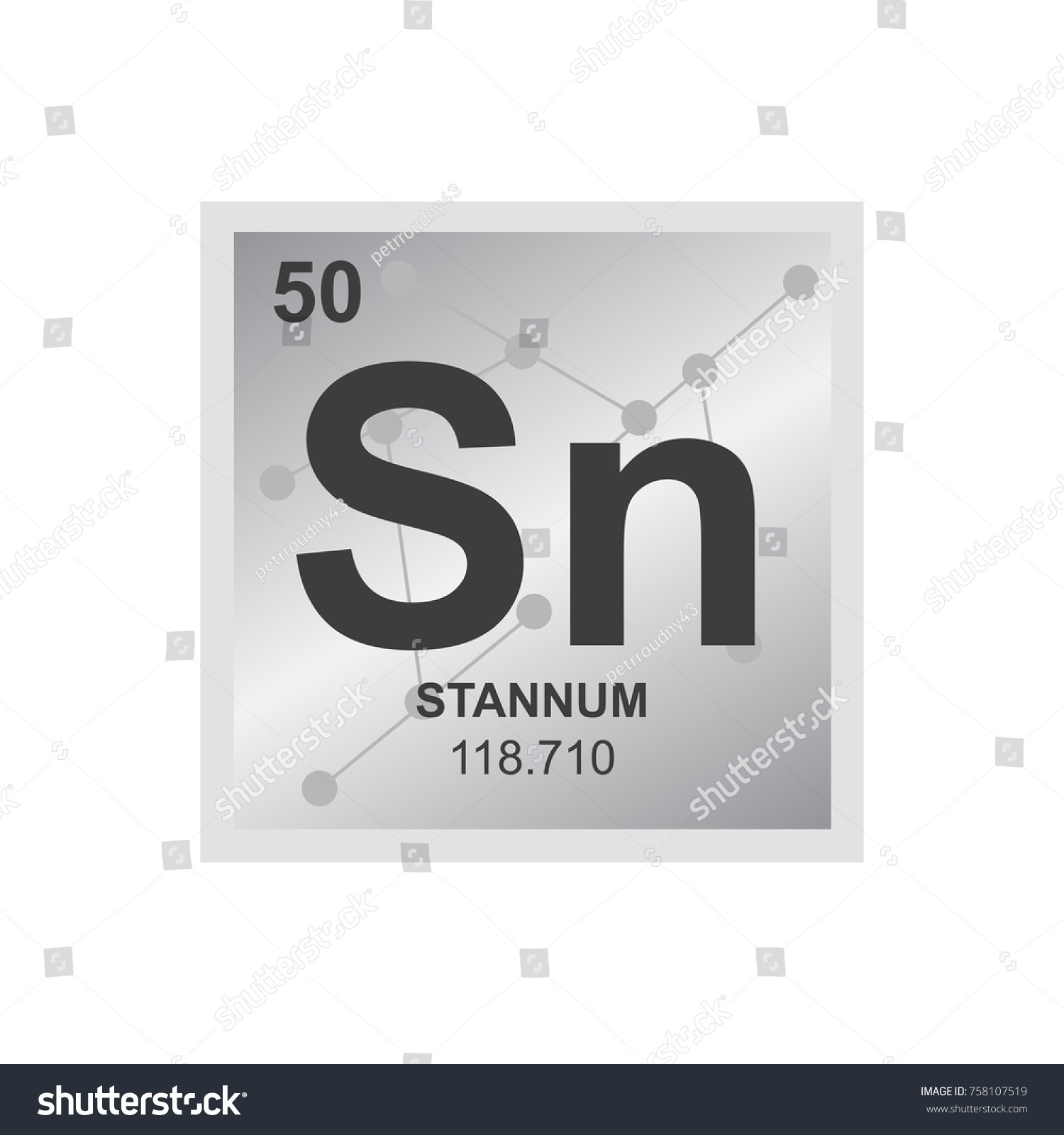 Vector symbol tin periodic table elements stock vector 758107519 vector symbol of tin from the periodic table of the elements on the background from connected urtaz Images