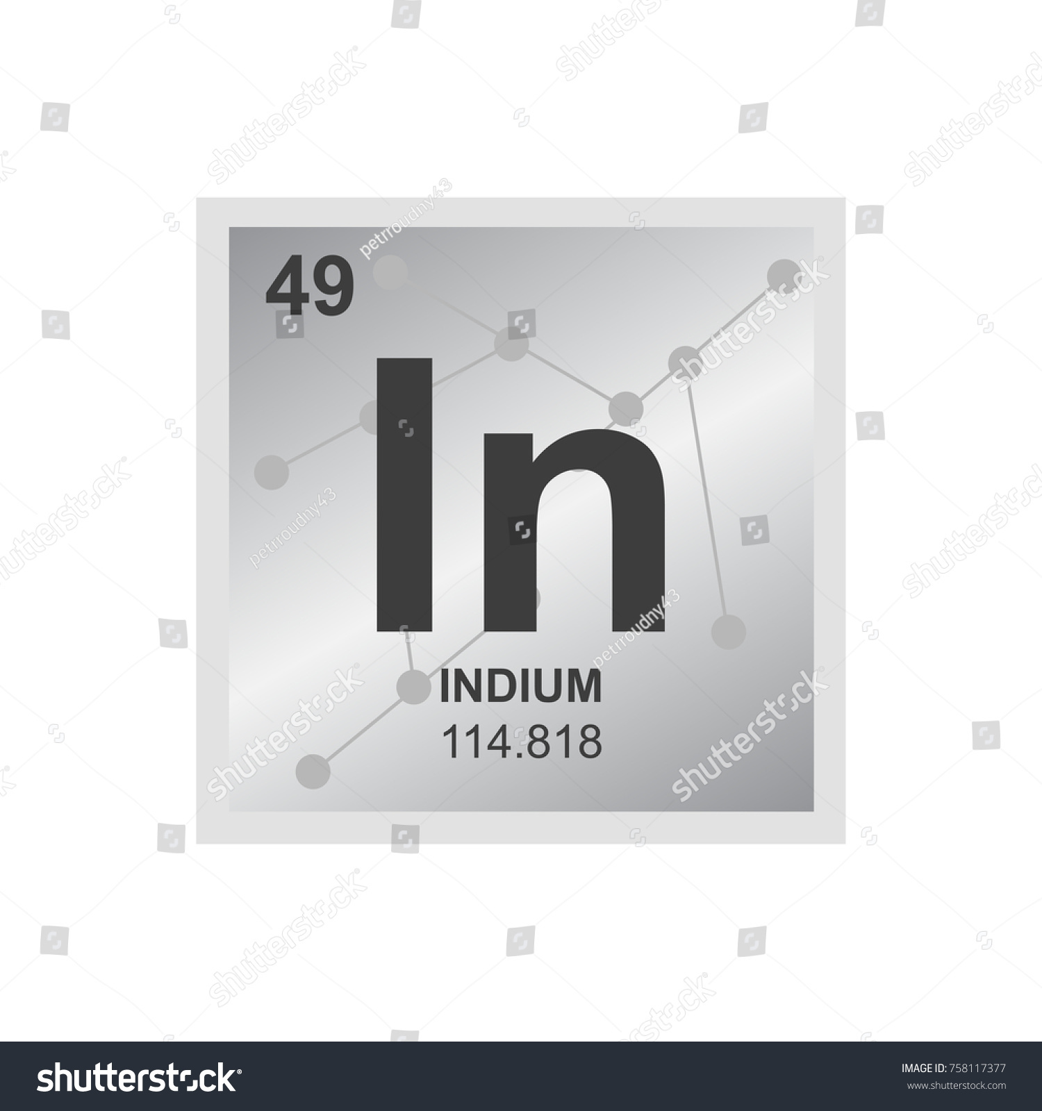 Vector symbol indium periodic table elements stock vector vector symbol of indium from the periodic table of the elements on the background from connected gamestrikefo Gallery