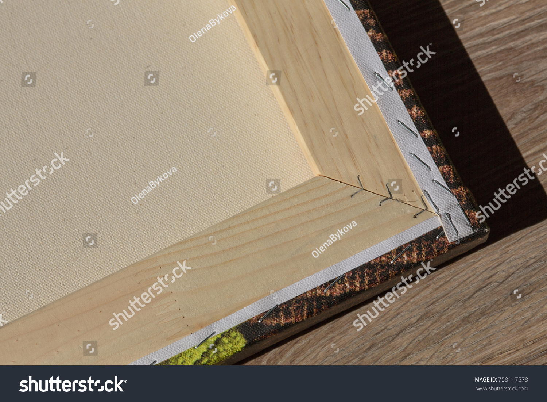 Edge Wooden Frame Stapled Photo Poster Stock Photo (Royalty Free ...
