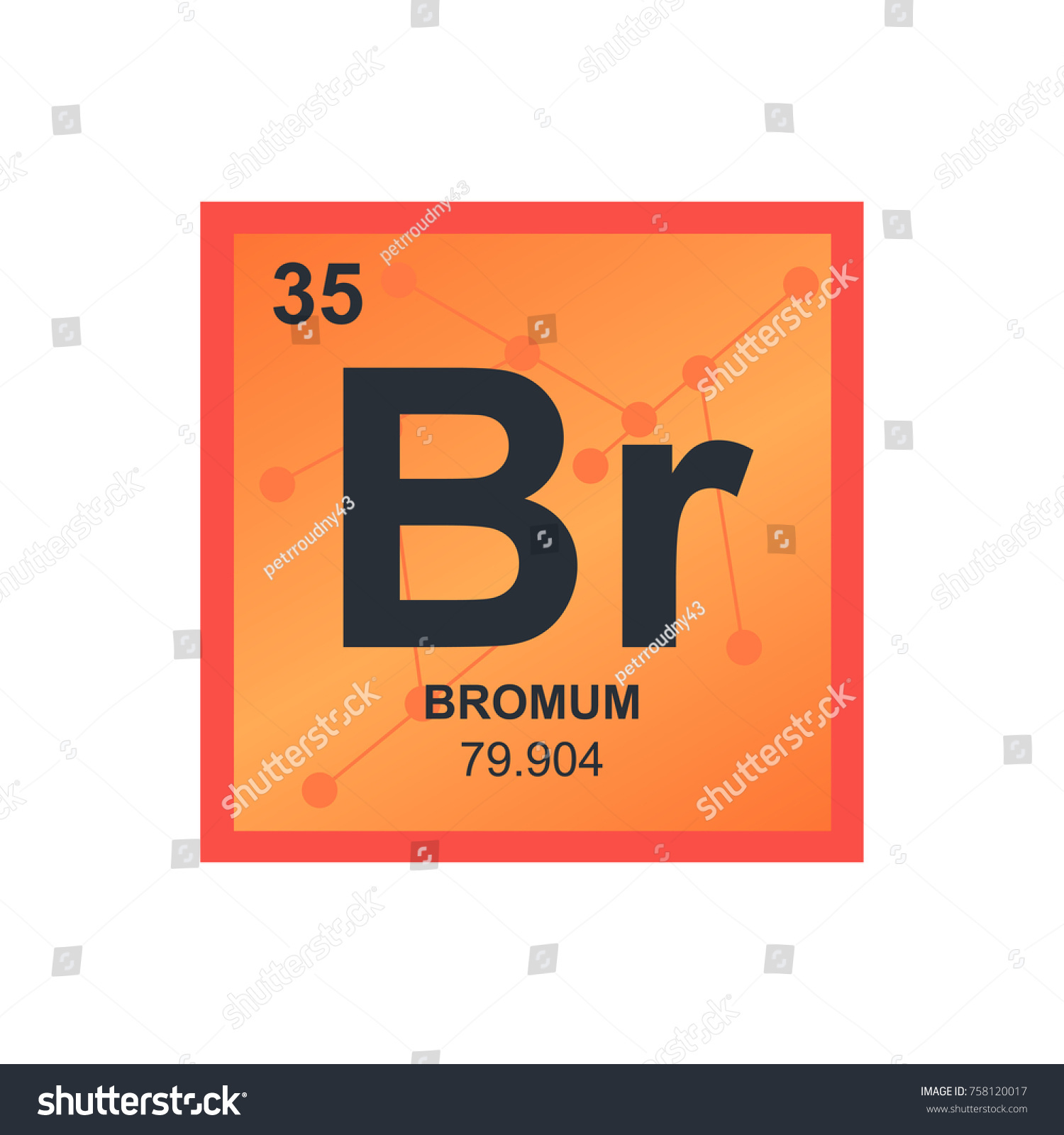 Vector symbol bromine periodic table elements stock vector vector symbol of bromine from the periodic table of the elements on the background from connected biocorpaavc