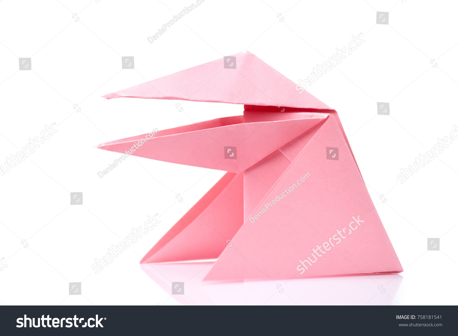 Simplified frog origami design easy level stock photo 758181541 simplified frog origami design easy level for little beginners japanese art of folding jeuxipadfo Images