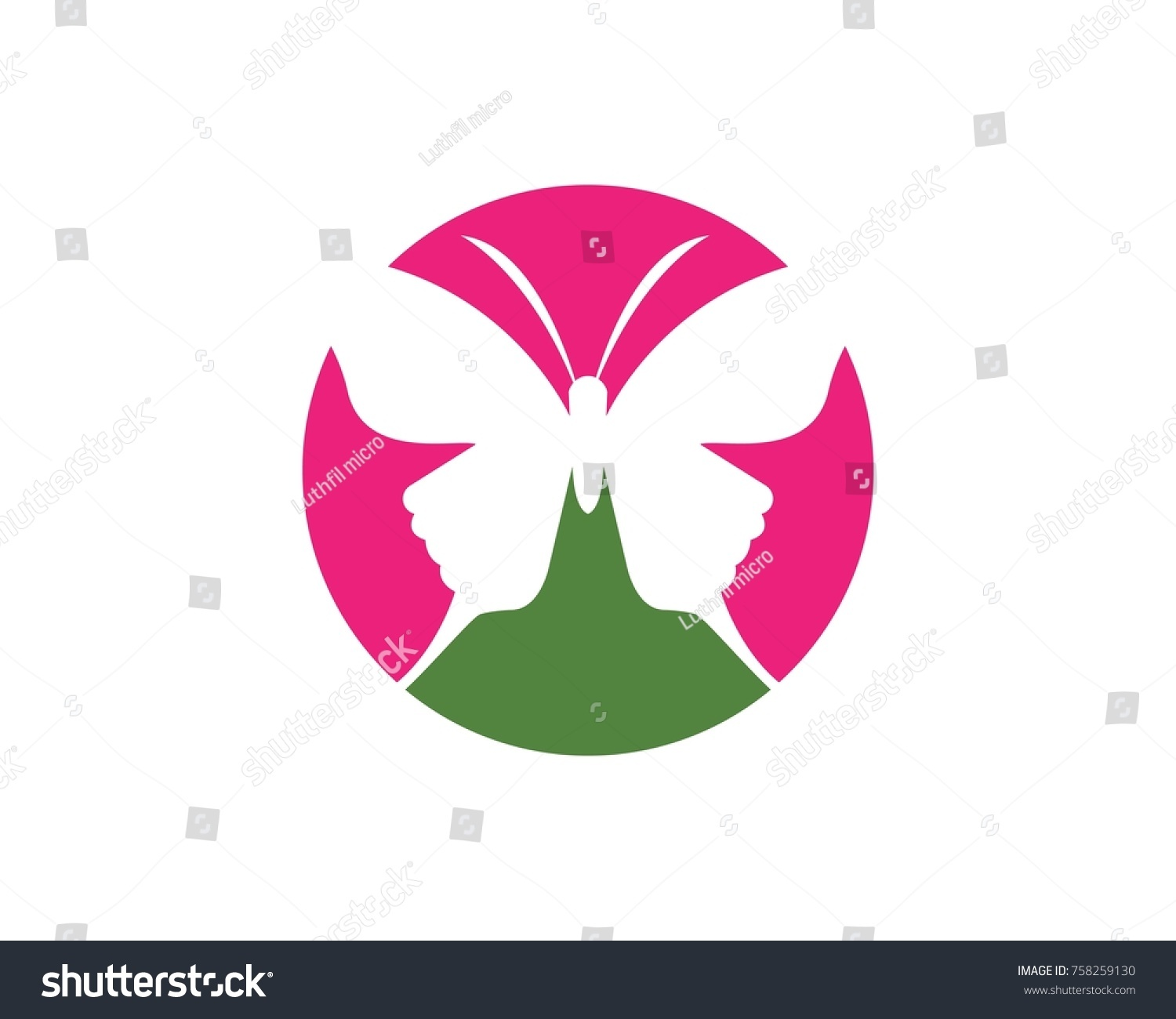 Butterfly logos symbol template stock vector 758259130 shutterstock butterfly logos symbol template biocorpaavc Image collections