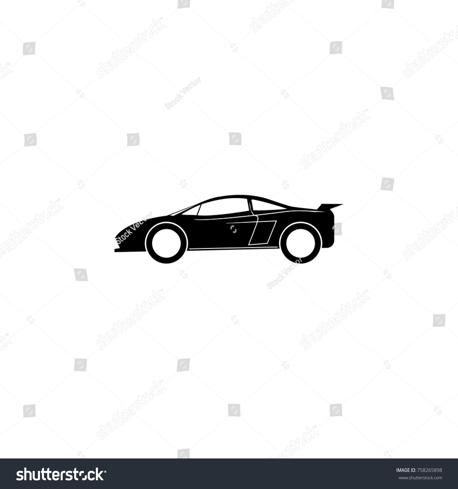 Sports Car Icon Car Type Simple Stock Vector 758265898 - Shutterstock