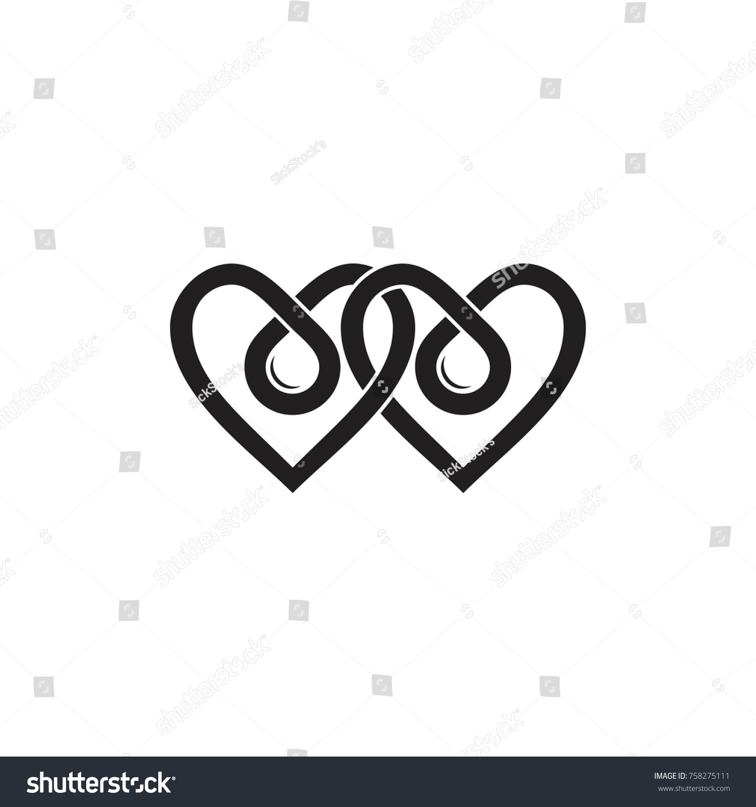 Love heart symbol linked infinity design stock vector 758275111 love heart symbol linked infinity design with drop shape logo vector buycottarizona Gallery