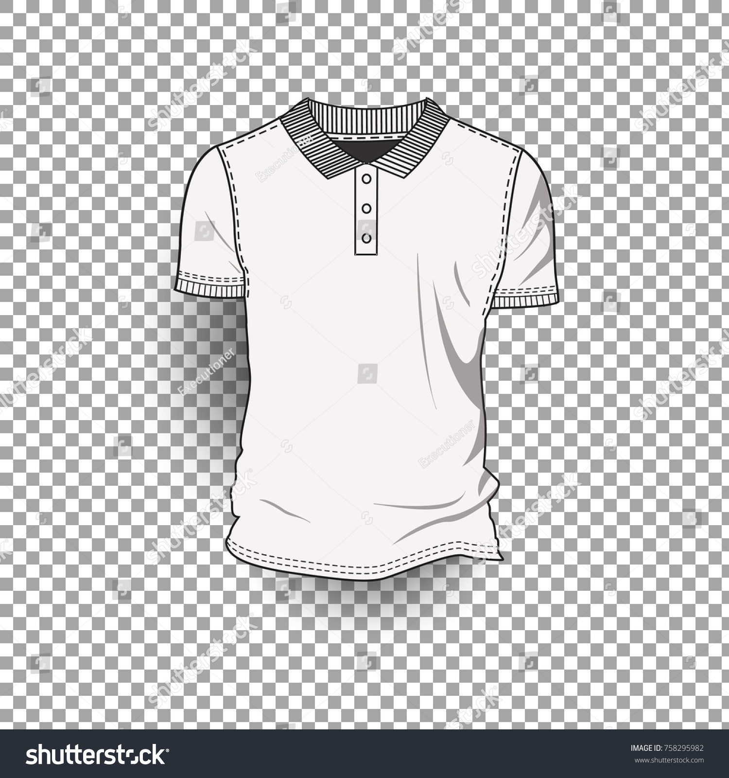 Tshirt Template Front Back Realistic Design Stock Vector 758295982 ...