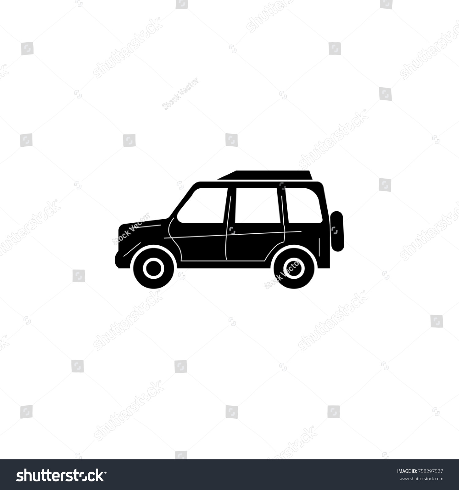 Four Wheel Drive Sedan : Four wheel drive car type stock illustration