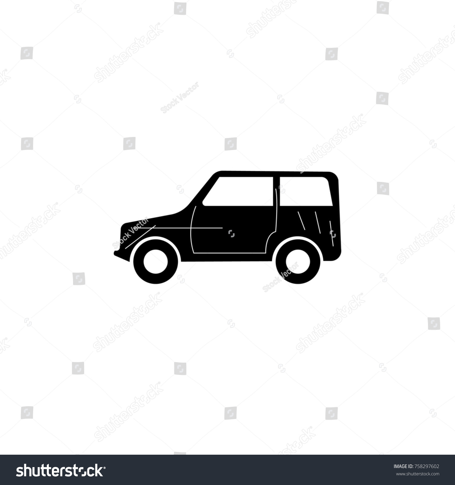 Offroad Car Icon Car Type Simple Stock Illustration 758297602 ...