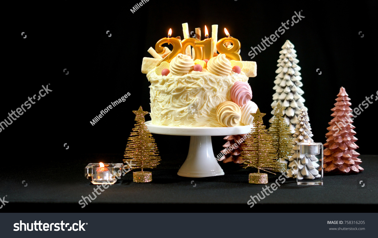 2018 Happy New Year Showstopper Cake Stock Photo 758316205 Shutterstock