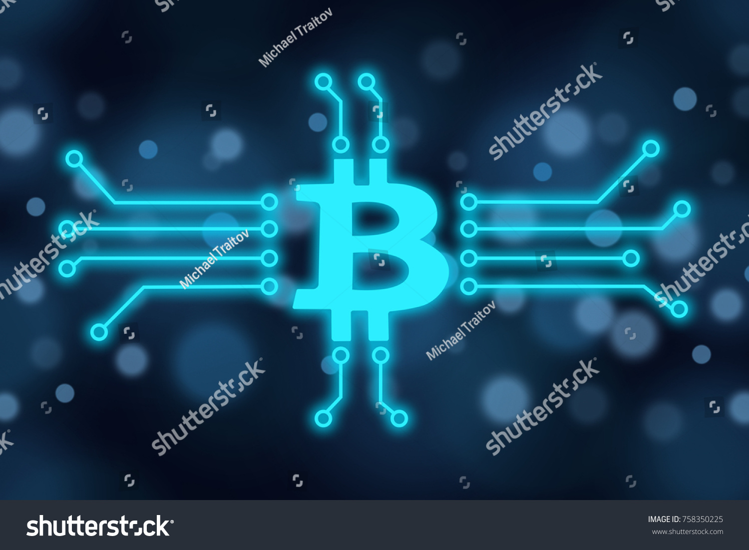 Bitcoin Cryptocurrency Concept Bitcoin Symbol Micro Stock Photo ...