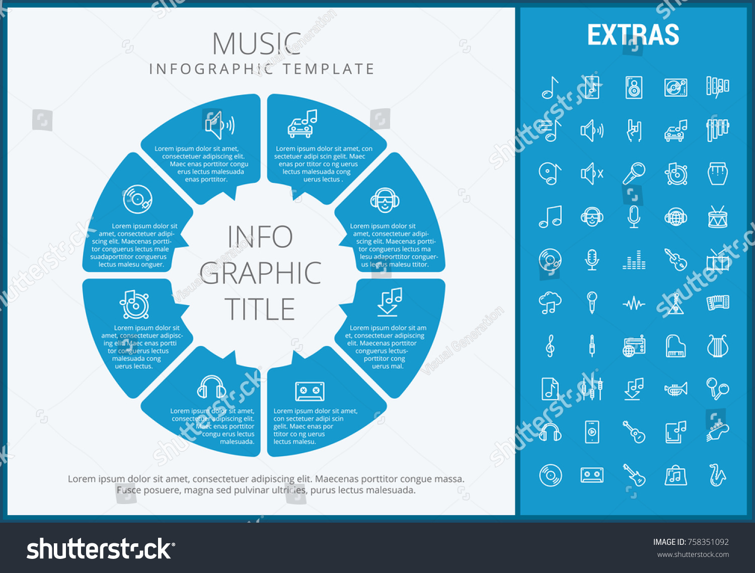 Music Infographic Template Elements Icons Infograph Stock Vector ...